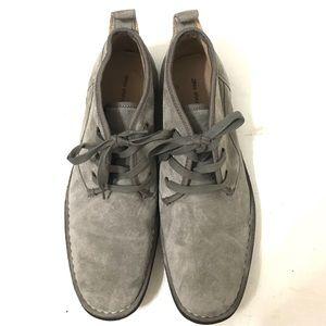 John Varvatos Star Mens Gray Suede Dessert Boots